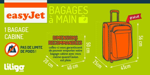 bagage à main avion easyjet