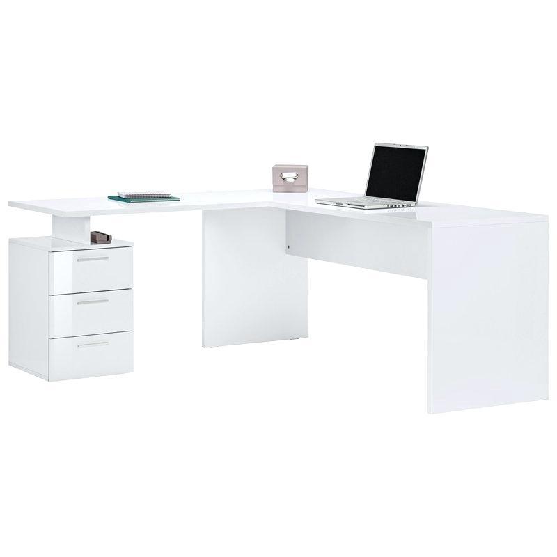 bureau d angle blanc