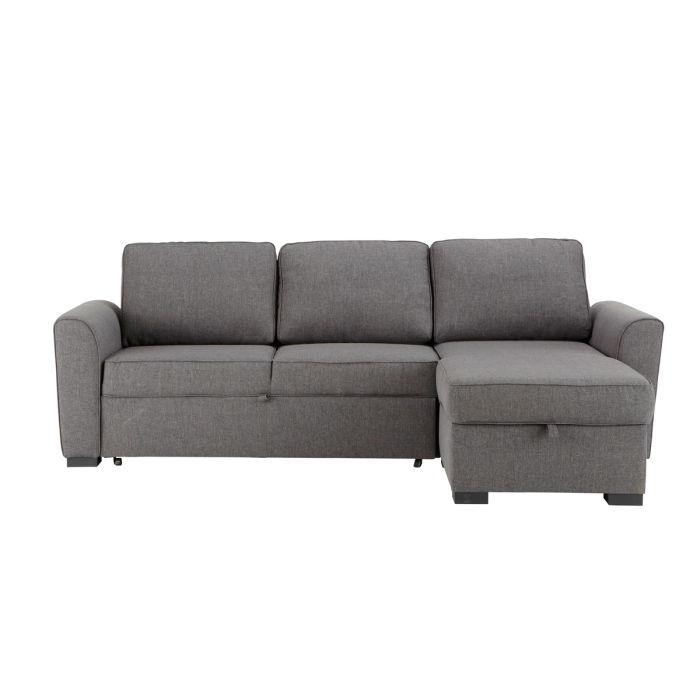 canapé convertible gris