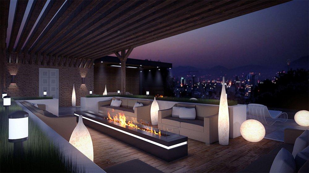 eclairage exterieur terrasse