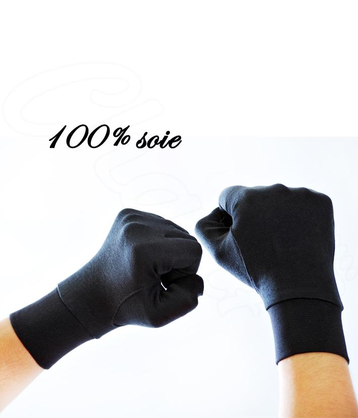 gants en soie