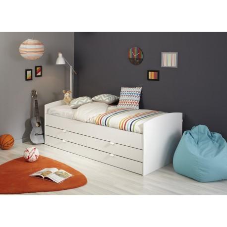 lit 1 place avec rangement