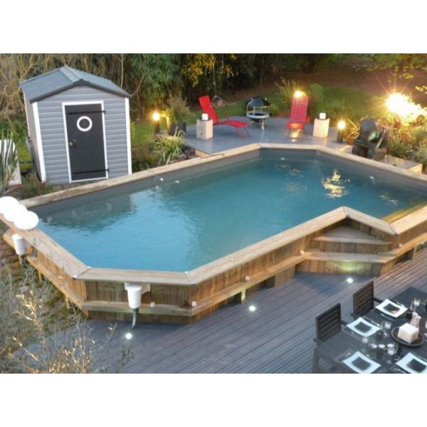 piscine acier semi enterrée