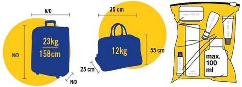taille valise soute