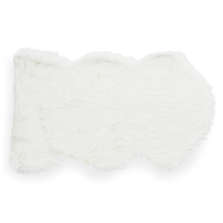 tapis fausse fourrure blanc