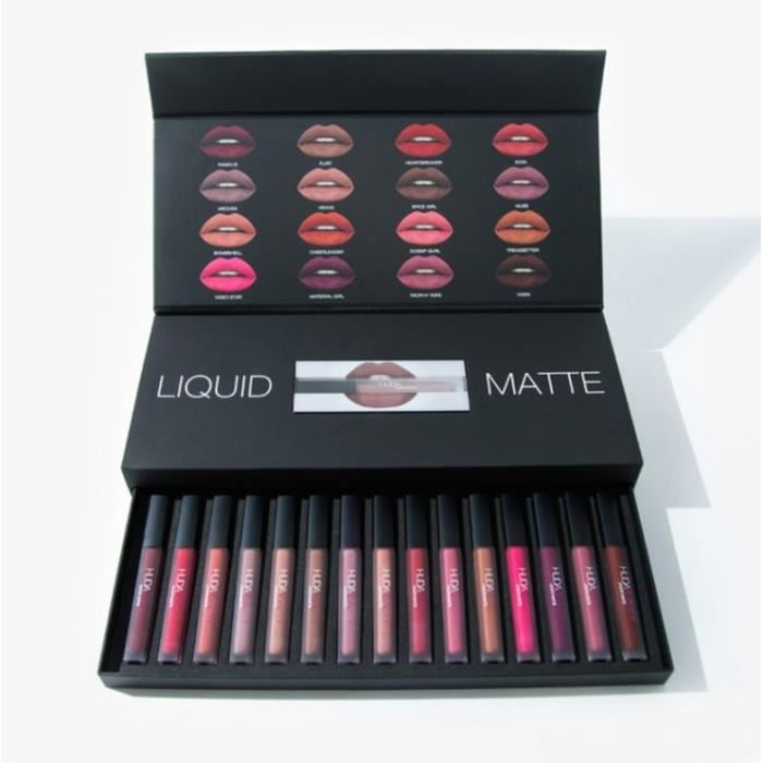 huda beauty lipstick coffret