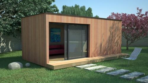 maison en bois jardin